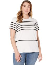 Lauren by Ralph Lauren - Plus Size Striped Cotton-blend Top - Lyst