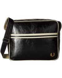 Fred Perry - Classic Shoulder Bag (black/ecru) Shoulder Handbags - Lyst
