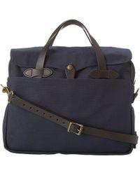 Lyst - Prada Saffiano Logo Briefcase With Shoulder Strap in Blue c60e03f287f11