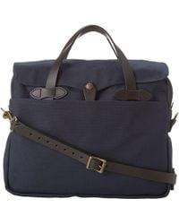 d803072ed7bc Lyst - Prada Saffiano Logo Briefcase With Shoulder Strap in Blue