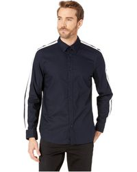 Calvin Klein - Long Sleeve Racing Stripe Shirt (sky Captain) Men's Clothing - Lyst