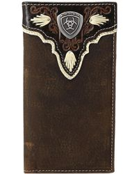 Ariat - Shield Ivory Rodeo Wallet - Lyst