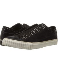 John Varvatos - Studded Waxy Suede Low Top (black) Men's Shoes - Lyst