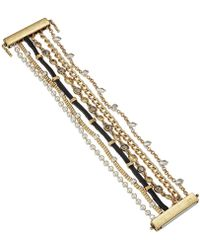Lucky Brand - Pave And Chain Lucky Layer Bracelet - Lyst