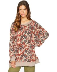 Free People - Go On Get Floral Top (brown) Women's Clothing - Lyst