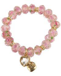 Betsey Johnson - Tzarina Pink Beads Stretch Bracelet (pink) Bracelet - Lyst