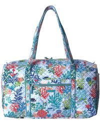 Vera Bradley - Iconic Large Travel Duffel (shore Thing) Duffel Bags - Lyst e0d89d72377c1