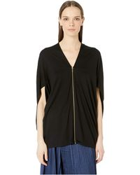 5e8ed8be47a Nicole Miller - Jersey Cocoon Top (black) Women s Clothing - Lyst