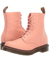 b3330100a Dr. Martens 1460 Pascal Virginia (salmon Pink) Women's Boots - Lyst