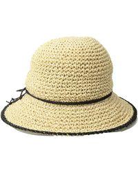 Lauren by Ralph Lauren - Packable Crochet Tipped Hat (natural/black) Caps - Lyst
