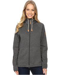 Fjallraven - Ovik Fleece Hoodie (dark Grey) Women's Sweatshirt - Lyst