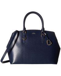 6147bd1071ada Lauren by Ralph Lauren - Bennington Double Zip Satchel (black) Satchel  Handbags - Lyst
