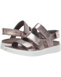 767d59b671e7 Ecco - Flowt 3 Strap Sandal (warm Grey Metallic Cow Leather) Women s Sandals  -