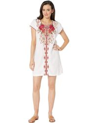 a3d530ce70 Lyst - Johnny Was Burke Linen Tunic Dress-plus Size in Pink - Save 9%