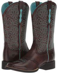 Ariat - Round Up Remuda (naturally Dark Brown) Cowboy Boots - Lyst