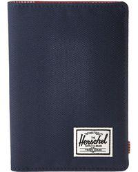 Herschel Supply Co. - Raynor Passport Holder Rfid (navy/red) Wallet Handbags - Lyst