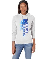 8674f4084d The North Face - Trivert Pullover Hoodie (storm Blue Heather peyote Beige  Multi)