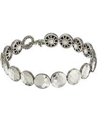 John Hardy - Dot 10.5mm Hammered Link Bracelet (hammered Silver) Bracelet - Lyst