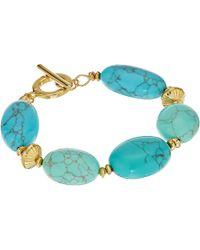"Lauren by Ralph Lauren - Paradise Found 7 1/2"" Turquoise Nugget Bead Bracelet - Lyst"