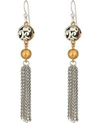 Brighton - Elora Lux Tassel French Wire Earrings - Lyst