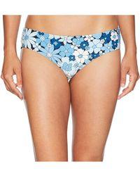 MICHAEL Michael Kors - Cherry Summer Flower Shirred Smooth Fit Cheeky Bikini Bottoms - Lyst