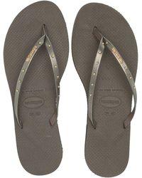 7fe2ae2a4abb Havaianas - You Maxi Sandal (dark Khaki) Women s Sandals - Lyst