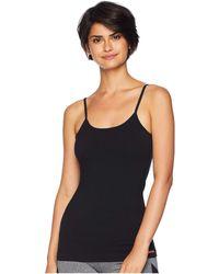 Hard Tail - Strappy Back Tank With Bra Inserts (black) Women's Sleeveless - Lyst