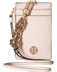 Tory Burch - Robinson Lanyard (shell Pink) Wallet - Lyst