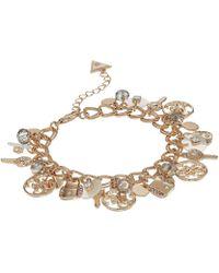 Guess - Charmy Bracelet (cream/gold) Bracelet - Lyst