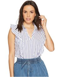 Bishop + Young - Stripe Ruffle Top - Lyst