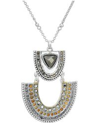 Lucky Brand - Pave Pendant Necklace (two-tone) Necklace - Lyst