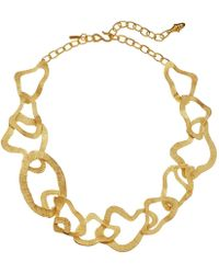 Kenneth Jay Lane - Wavy Link Necklace - Lyst