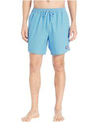 f537463642b42 Vineyard Vines - Fine Line Stripe Chappy Swim Shorts (jetty Red) Men s  Swimwear -