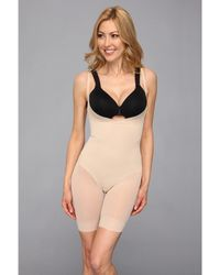 Miraclesuit - Extra Firm Sheer Shaping Open Bust Mid-thigh Slimmer (nude) Women's Underwear - Lyst