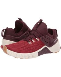 2b31343ec71fe2 Nike - Metcon Free (dune Red burgundy Crush light Cream) Men s Cross