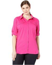 f832f38bfce Columbia - Plus Size Silver Ridge Lite Long Sleeve Shirt (white) Women s  Long Sleeve