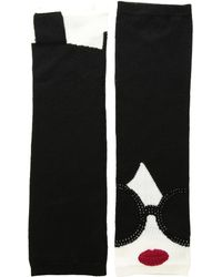 Alice + Olivia - Loe Stace Face Long Fingerless Gloves - Lyst