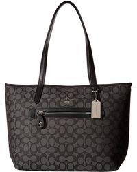 COACH - Signature Taylor Tote (sv/black Smoke/black) Tote Handbags - Lyst