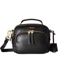 Tumi - Voyageur Troy Leather Crossbody (black) Cross Body Handbags - Lyst