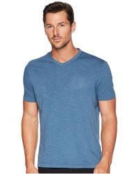 Calvin Klein - Mixed Media V-neck Tee (stellar) Men's T Shirt - Lyst