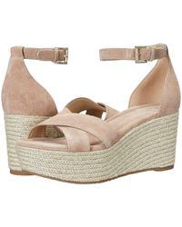 MICHAEL Michael Kors - Desiree Wedge (acorn Vachetta/nappa Basket Weave) Women's Wedge Shoes - Lyst