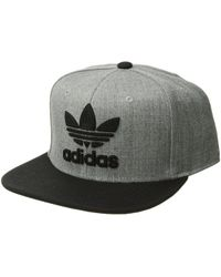 adidas Originals - Originals Trefoil Chain Snapback Cap (black black) Caps  - Lyst 934dafeafc1