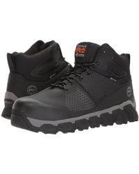 Timberland - Ridgework Composite Safety Toe Waterproof Mid (black) Men's Work Lace-up Boots - Lyst