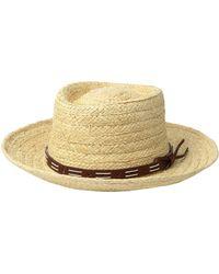 ec04a2e2e3f San Diego Hat Company - Raffia Gambler W  Faux Leather Band (natural) Caps