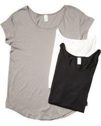 Alternative Apparel - The Original T-shirt Bundle (black/white/nickel) Women's T Shirt - Lyst