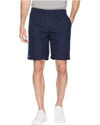 Lacoste - Sport Tech Capsule Short W/ Contrast Color Yoke At Side (inkwell/black/white/white) Men's Shorts - Lyst