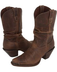 Durango - Crush Slouch Boot (distressed Sunset Brown) Cowboy Boots - Lyst