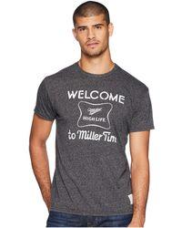 The Original Retro Brand - Its Miller Time Mocktwist Tee (mocktwist Black) Men's T Shirt - Lyst