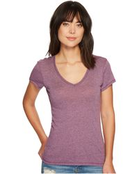 Alternative Apparel - Vintage 50/50 The Keepsake V-neck Top (vintage Iris) Women's T Shirt - Lyst