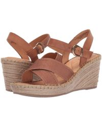 10235b02fbc5 Born - Payette (brown tan Fabric Combo) Women s Wedge Shoes - Lyst